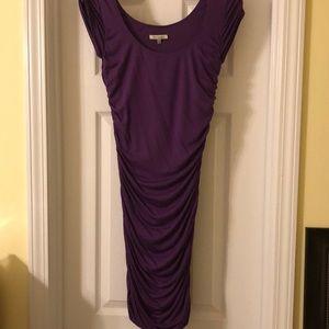 Purple bodycon dress